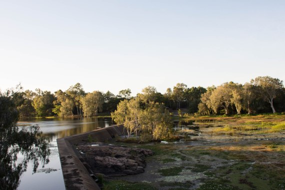 The view from Gleeson's Weir, which was built in 1908 to ensure a steady supply of water for the growing population of Townsville at the time